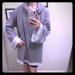 Caslon XXL Gray Turtleneck Sweater